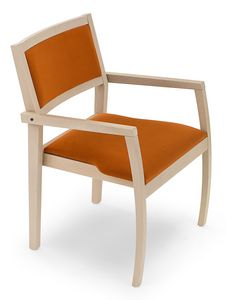 Gamma ARMS, Wooden chair with armrests