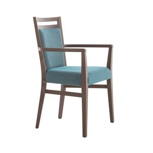 MP472FP, Modern wooden chair with armrests