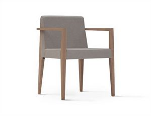 New York 631N, Chair with armrests, with upholstered seat and back