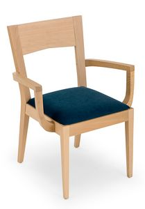 Nico ARMS, Wooden chair with armrests