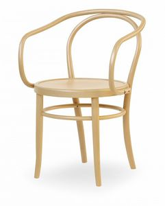 V12, Wooden chair with armrests