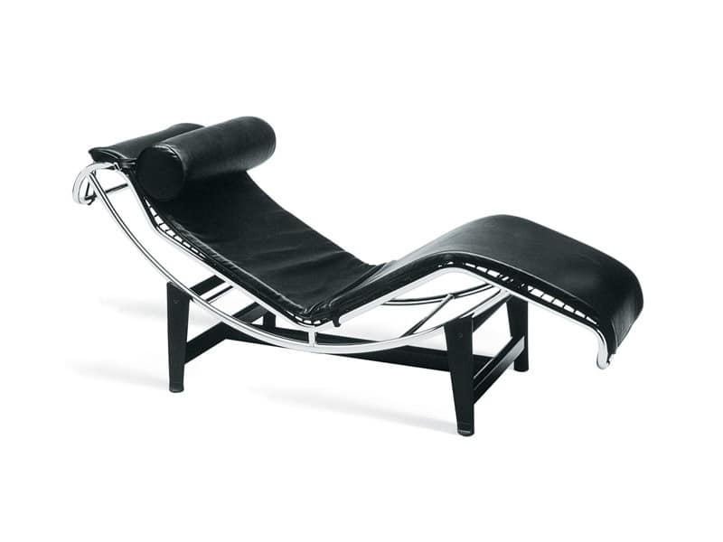 Comfortable Chaise Longue Chromed Steel Frame Idfdesign