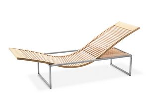 Chaise longue Sauna Vita, Chaise longue for the sauna room, in beech and steel