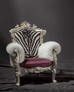 Baby white armchair, Children's armchair, with luxurious style