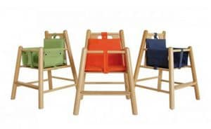 ROND�, Padded chair in beech, with round legs