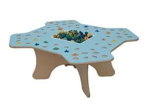 MARAMEO, Children's table for schools and kindergarten, wood structure