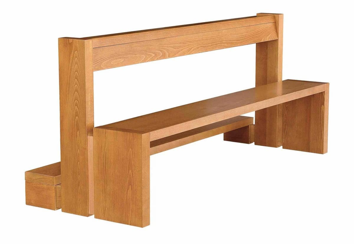 Contemporary Bench In Solid Wood For Churches Idfdesign