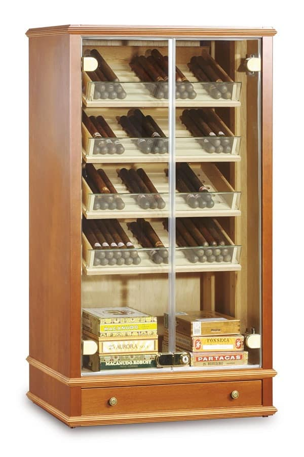 Cigars showcase for tobacco shop : IDFdesign
