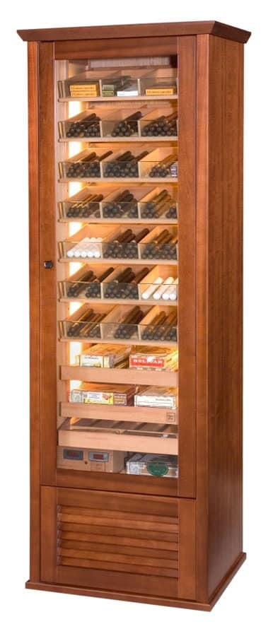 Humidity Controlled Cigar Cabinet For Tobacco Shop