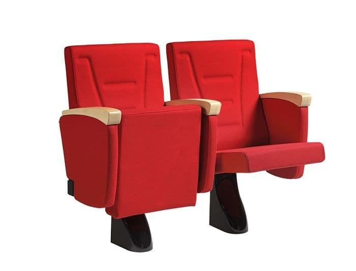 Aosta, Upholstered polyurethane armchair with seat tilt