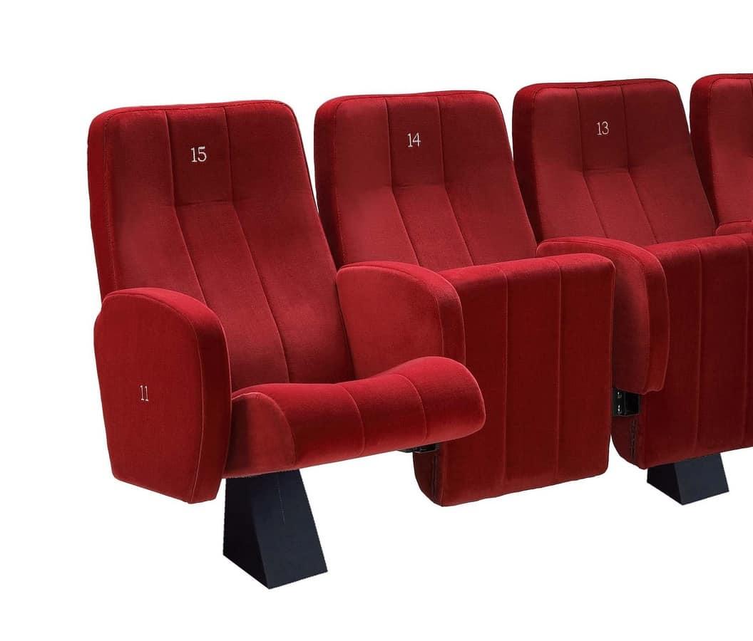 Comfort Plex, Fireproof padded chair for the cinema halls