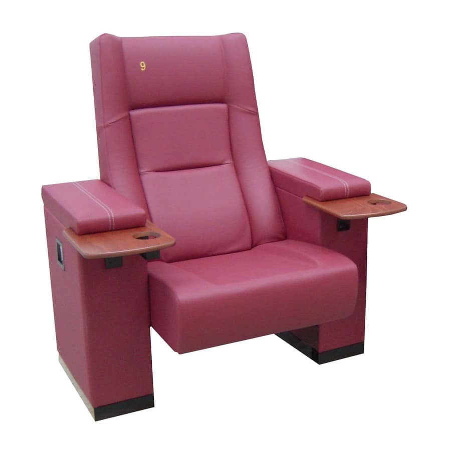 Comfort Rimini, Armchair with metal frame, upholstered, for multiplex rooms