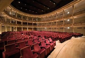 Picture of Ristori Theatre in Verona, lift-up seat chairs