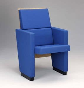 Santa Chiara F, Upholstered polyurethane armchair for conference rooms
