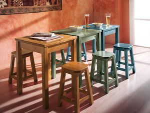 Collection Amb 06, Wooden stool in rustic style, for wine bars and saloons