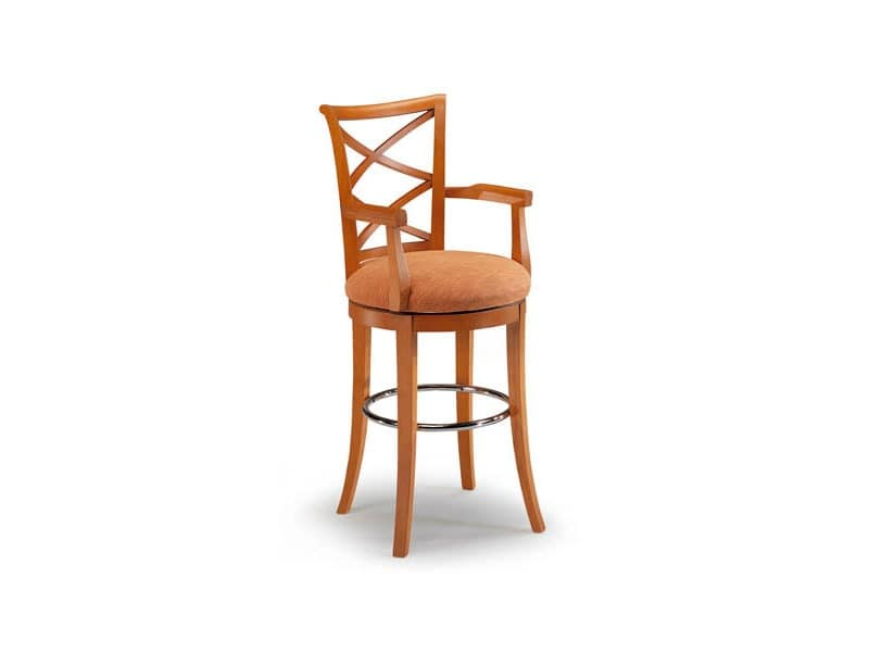Picture of CROCI SWIVEL barstool 8011B, traditional barstool