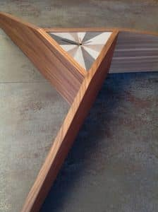 Time 509, Clock shelf, in Canaletto walnut, with inlaid