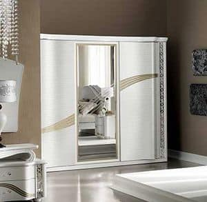 Mir� large wardrobe, Wardrobe with sliding doors and central mirror