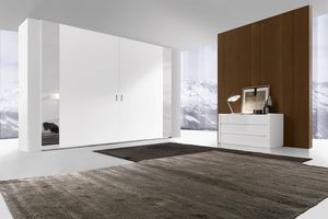 Time 3 Wardrobe strong coplanar, Design wardrobe with coplanar doors in essential style