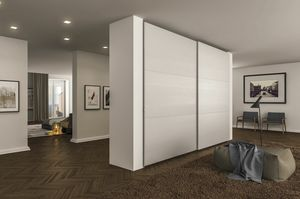 Time sliding wardrobe, Sliding doors wardrobe, with retractable handles