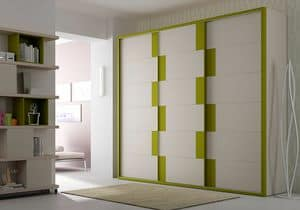 Wardrobe Frame AF 10, Wardrobe with sliding doors, spacious and robust