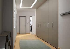 Wardrobe with hinged doors AB 19, Modern wardrobe with doors accordion opening