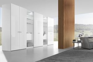 wardrobe with smooth and hinged door, Design wardrobe with hinged door and smooth finishing