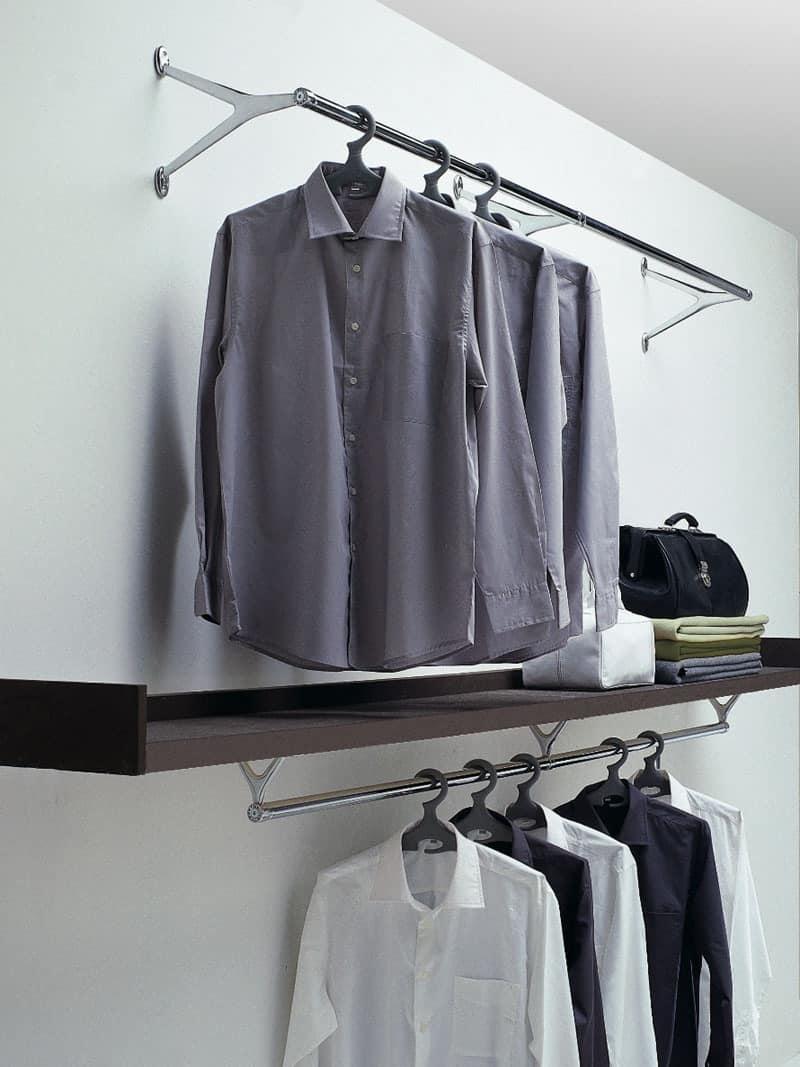 Ambrogio / Ambrogino, Coat hooks in chromed steel and polished aluminum