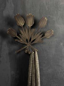 Bouquet  coat hook, Metal wall hanger, in modern style