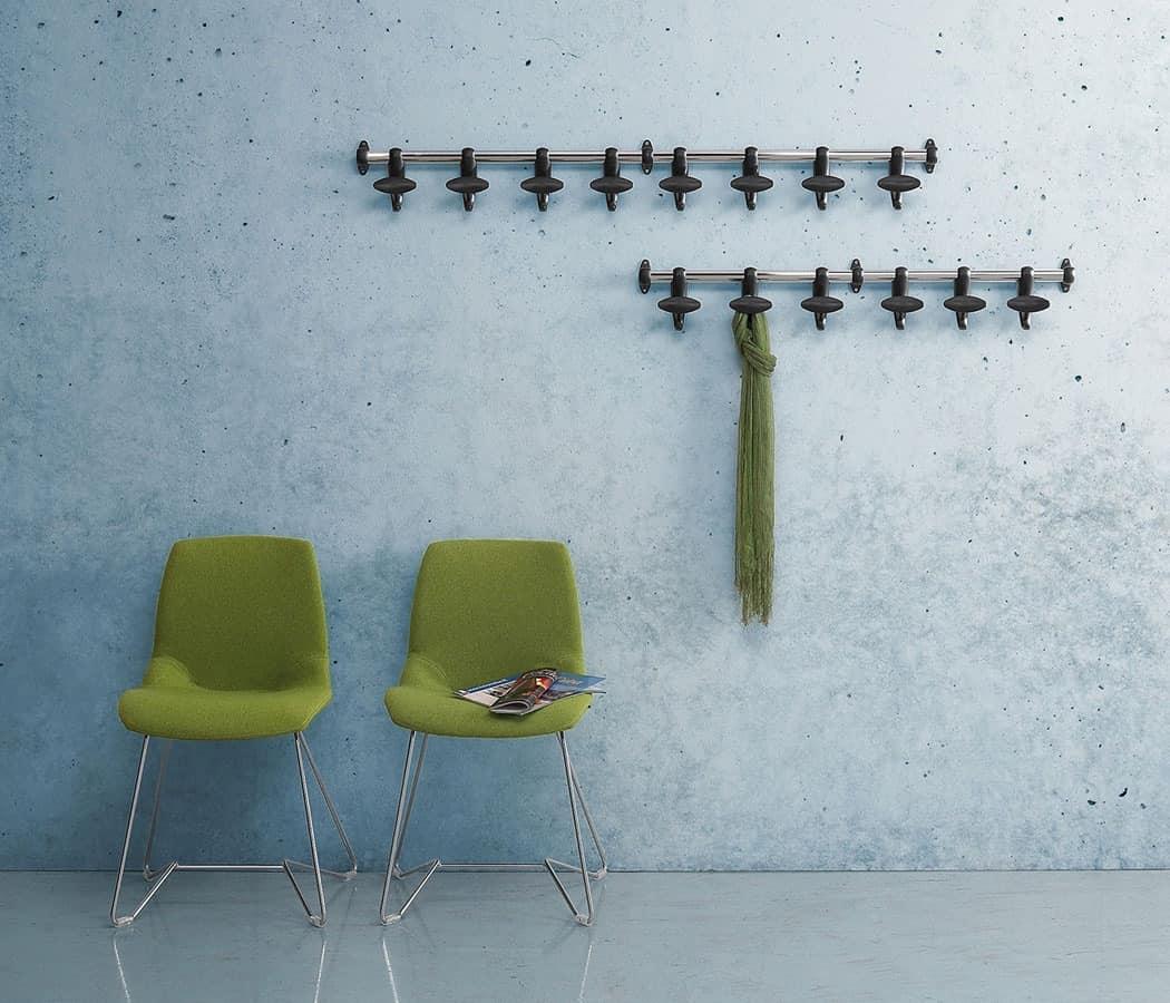 Hoow Wall Coat Rail Modern Coat Hangers Bedroom Idfdesign