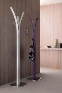Kari 810, Coat stand, covered in leather, for living room