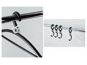 Ometto, Flexible elastomer hanger for offices