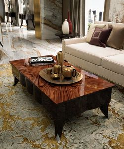Art. 3001, Coffee table with rectangular palissander top
