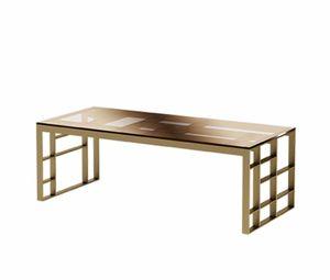 Matrix rectangular coffee table, Rectangular coffee table, antique bronze metal finish