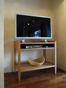 Tv stand 529, Cherry wood console, suitable as a TV or computer stand