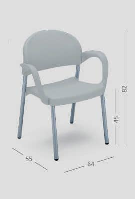 SI 32, Easy chair with armrests, for restaurants and meeting halls