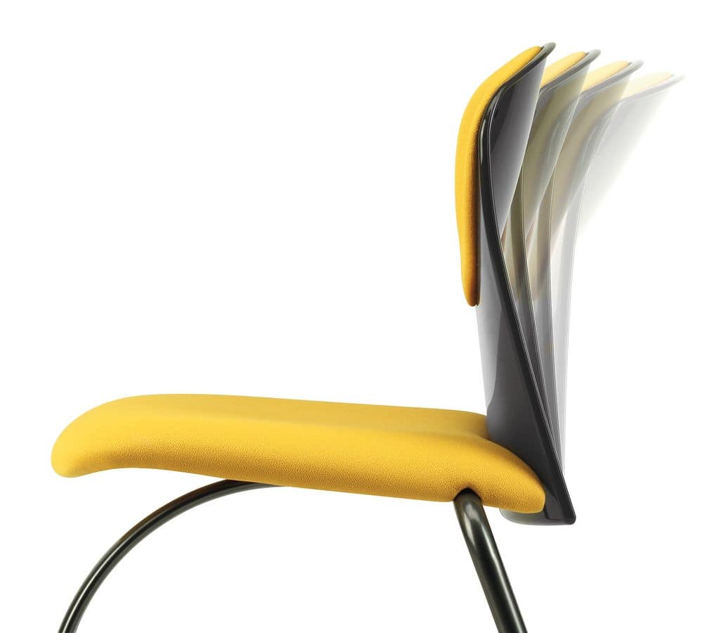 VULCAN 1270, Upholstered chair with metal base, for meeting room