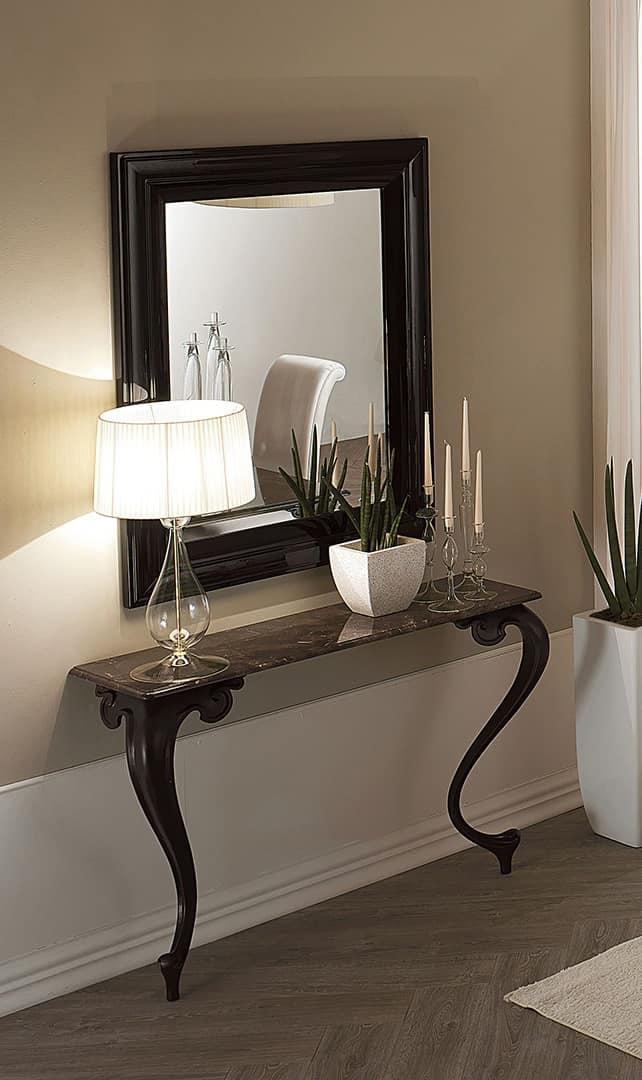 console with aluminum legs granite top idfdesign. Black Bedroom Furniture Sets. Home Design Ideas