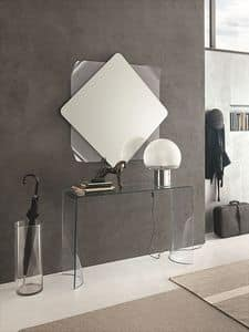 LINX COC06, Curved glass console and mirror for modern environments