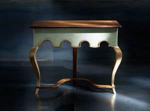 Museum Art. 80.851, Coonsolle in classic contemporary style, in walnut and linden