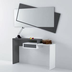 Smart 350, Console in laminate, with 1 drawer, for entrance hall