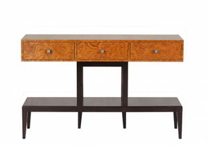 Spider console, Wooden console, with briar wood-effect finish