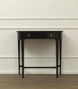 Tiffany, Console with 1 drawer, in cherry, for classic entrances