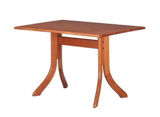 605, Modern rectangular table, in beech, for bars
