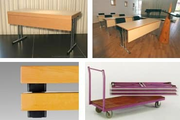 Conference 1845, Folding table for school, meeting room or canteen