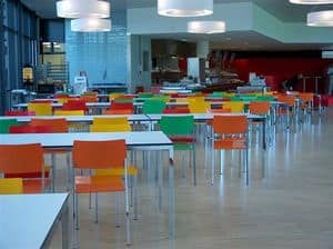Ernesto Ice Restaurant, Square tables, customizable to the millimeter, suitable for canteens and meeting areas