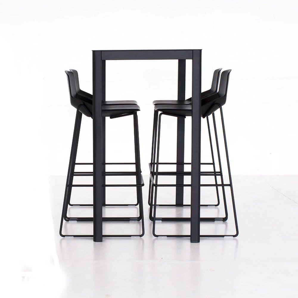Cocktail Table In Aluminium Laminate Hpl Top Square Or Rectangular Idfdesign