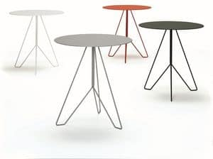 Marocchino, Fireproof table, with round top, suitable for bar and outdoors