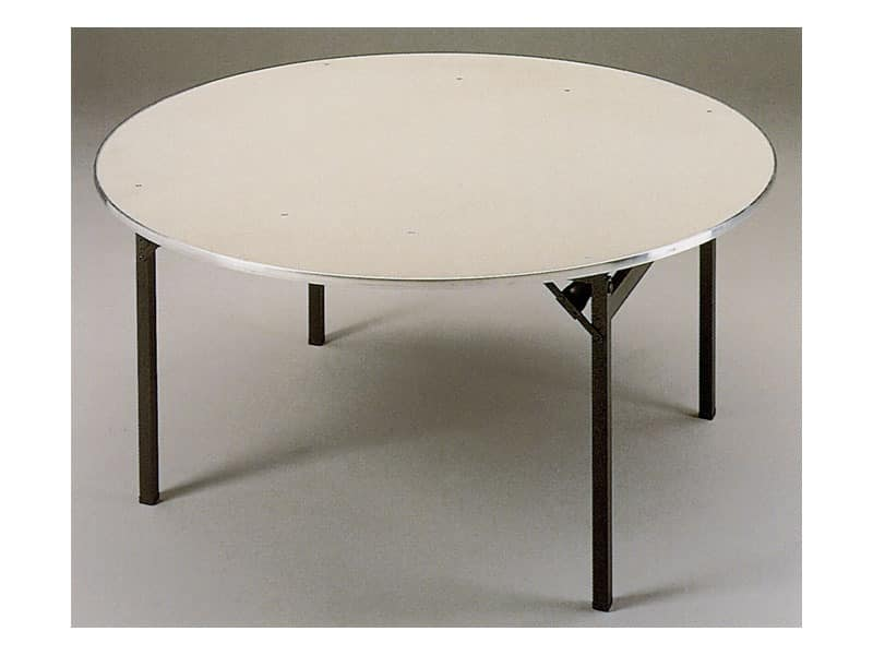 Slimfold S.3, Folding table with wooden top, easily transportable