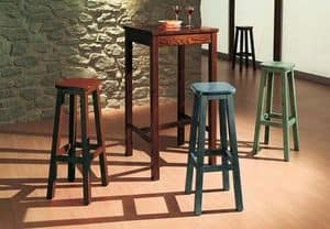 T/060, Rustic wooden high table for bars, cottages, pubs